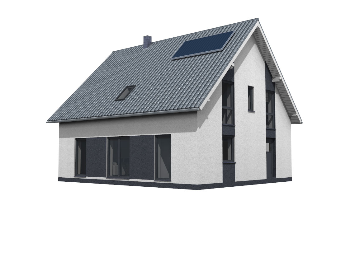 Einfamilienhaus 3D Ansicht