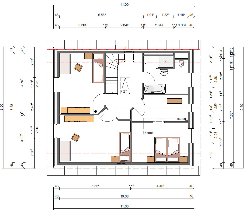 Einfamilienhaus Dachgeschoss