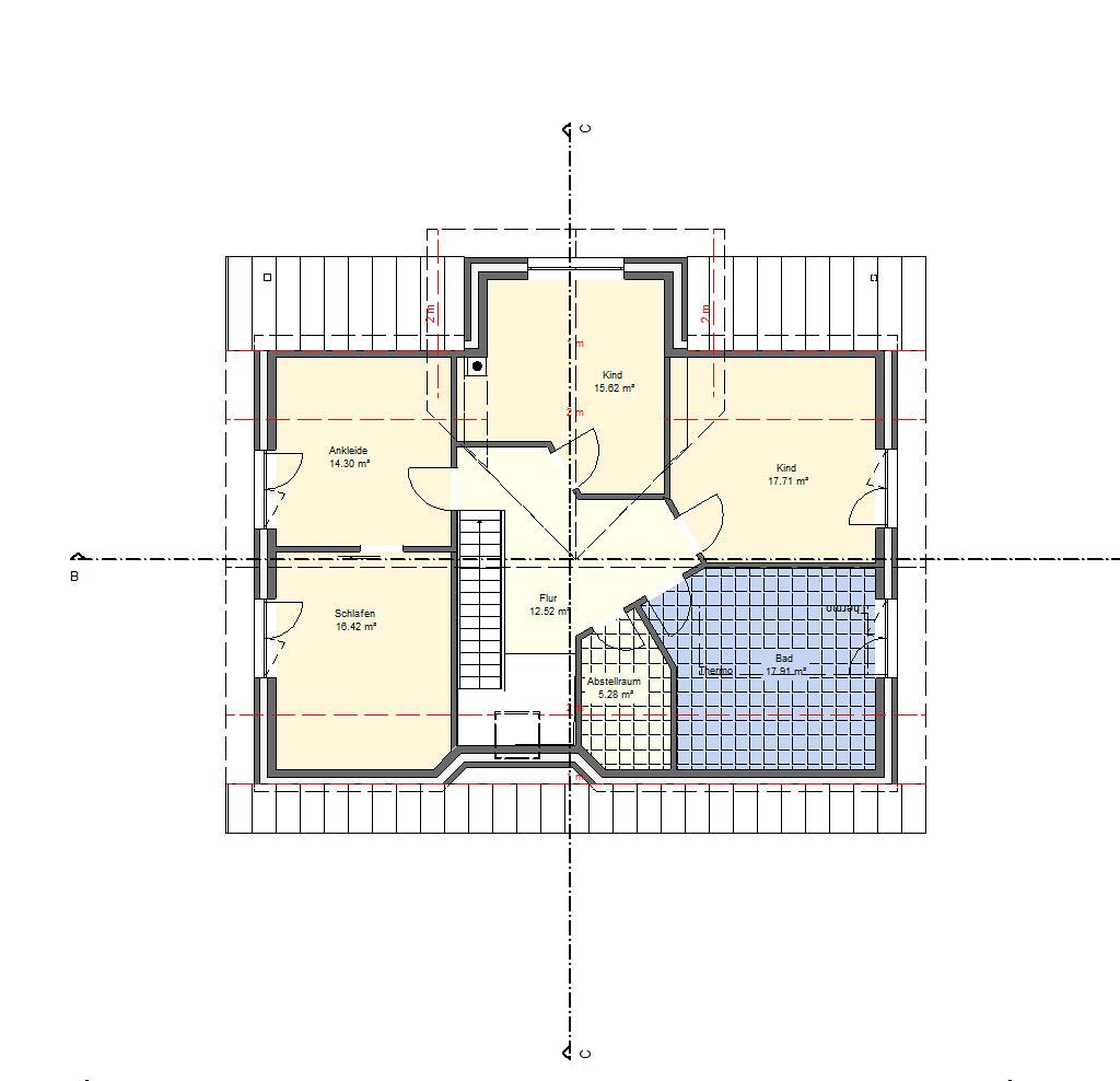 186-qm Haus mit Erker - Skizze vom Dachgeschoss
