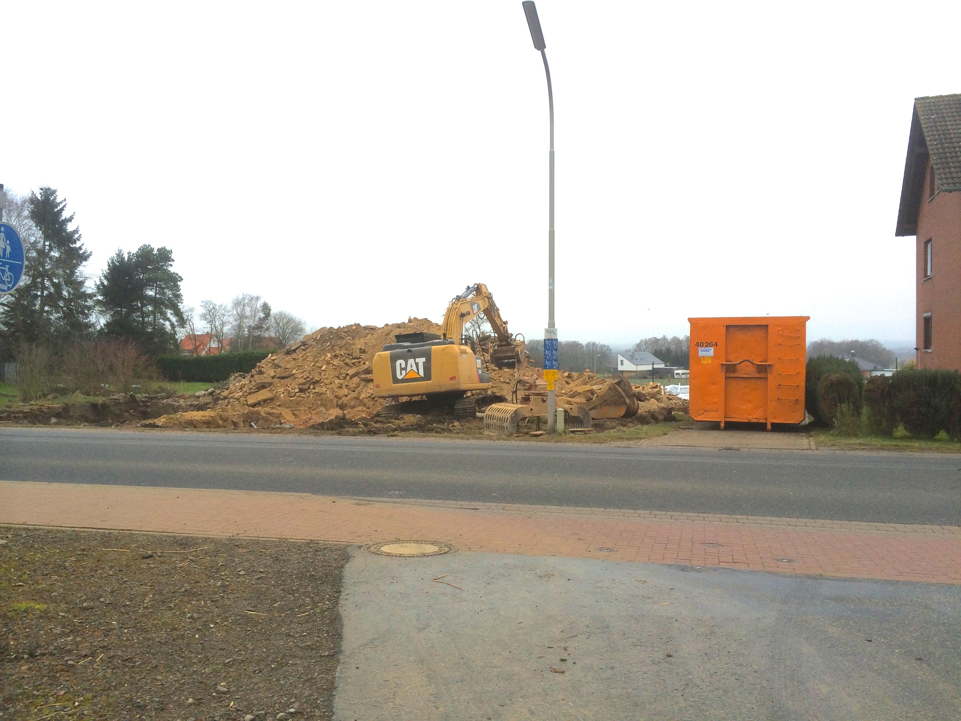 abgebrochenes Wohnhaus Hörkamp