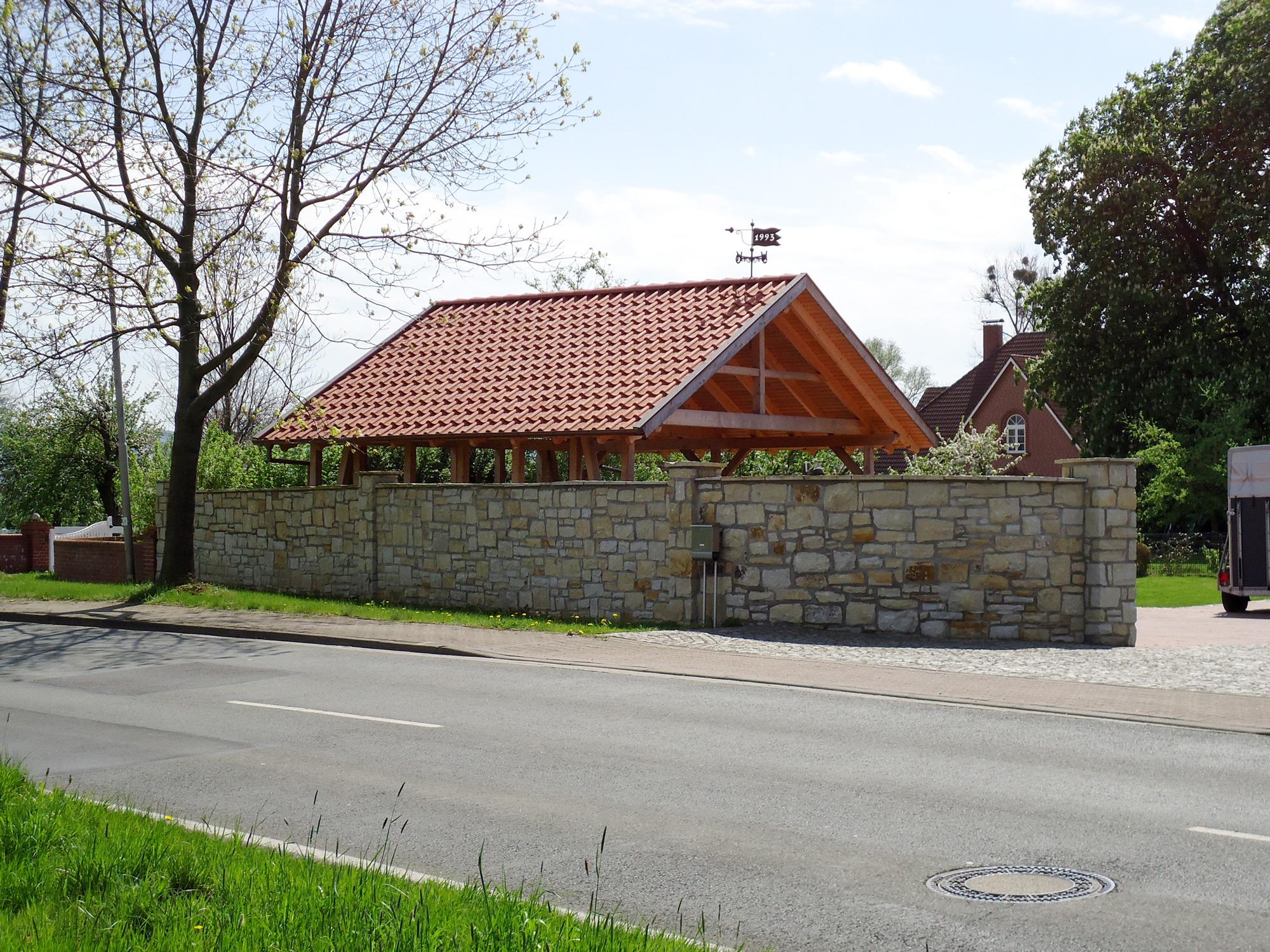 Grundstück Mauer